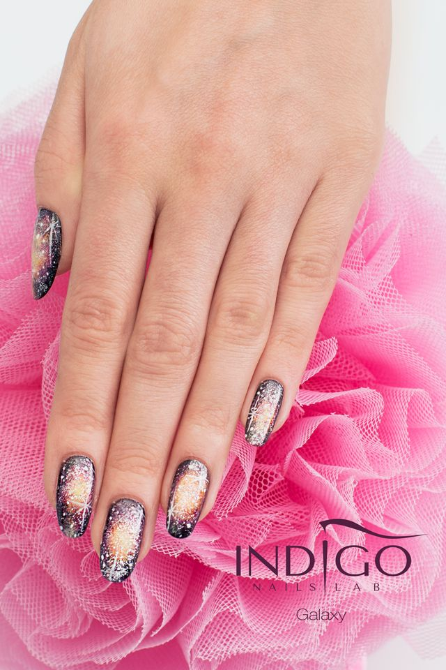 Gel Polish mix by Indigo Educator Paulina Walaszczyk  Find more Inspiration at www.indigo-nails.com #nails #galaxy #manicure