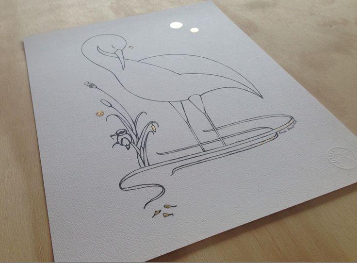 Sketch Gold Series - Sleeping Heron
