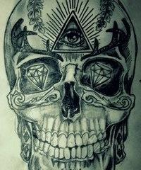 Third eye skull