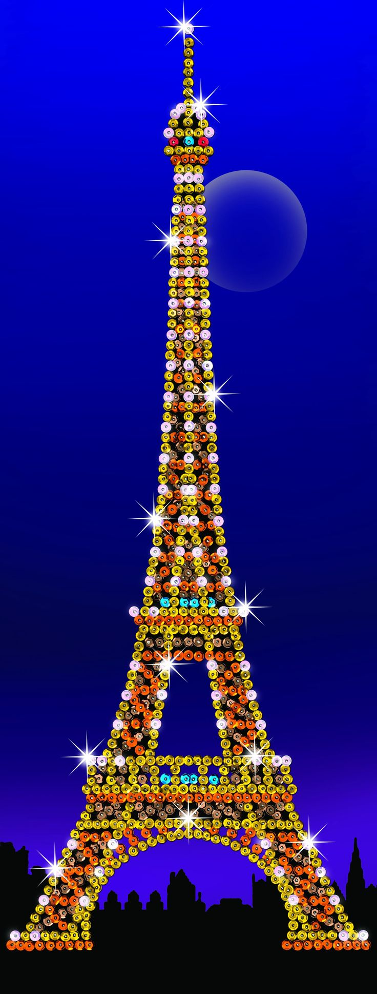 Strictly Sequin Art Eiffel Tower Sparkling Craft Picture Kit