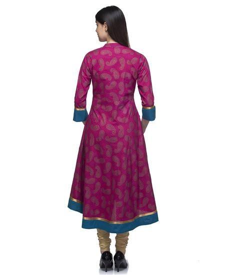 LadyIndia.com #Kurtis, Gorgeous Designer Cotton Silk Pink Kurti For Women, Kurtis, Kurtas, Cotton Kurti, https://ladyindia.com/collections/ethnic-wear/products/gorgeous-designer-cotton-silk-pink-kurti-for-women