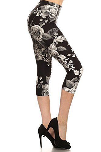 Special Offer: $10.99 amazon.com These beautiful high rise capri leggings in abstract print provides a slimming design with a high rise fabric waist, great to match with your favorite cropped tank top! Fabric contents: 65% Cotton, 30% Polyester, 5% Spandex Item: Women's Popular Capri...