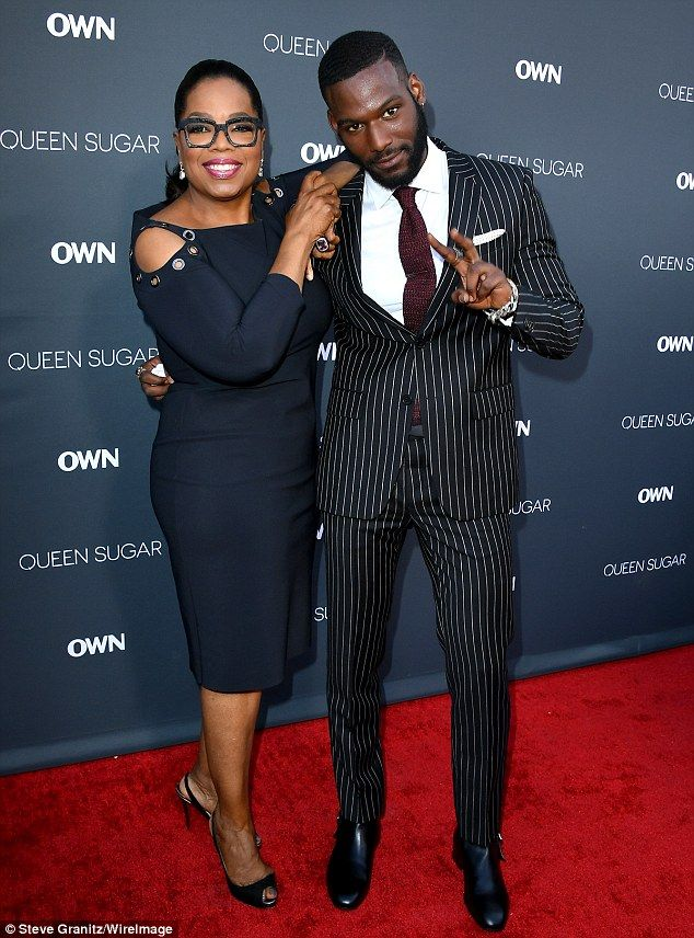 Hello! With her partner of 30 years Stedman Graham nowhere in sight, Winfrey cozied up to Queen Sugar heartthrob Kofi Siriboe at the Queen Sugar premiere