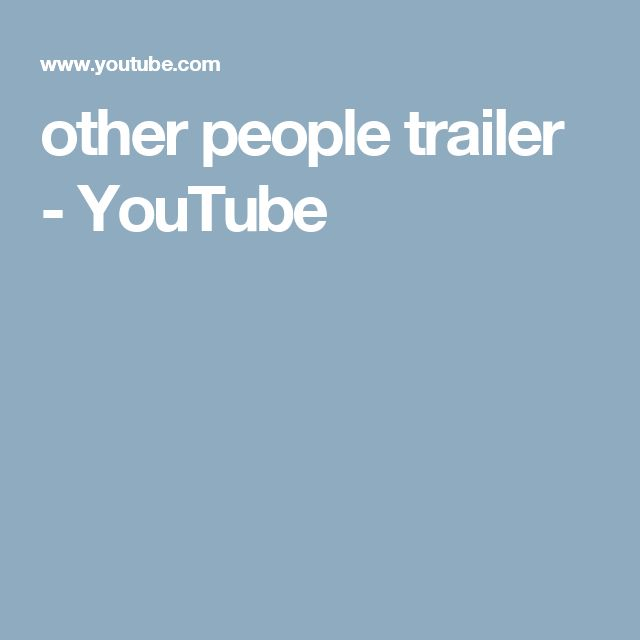 other people trailer - YouTube