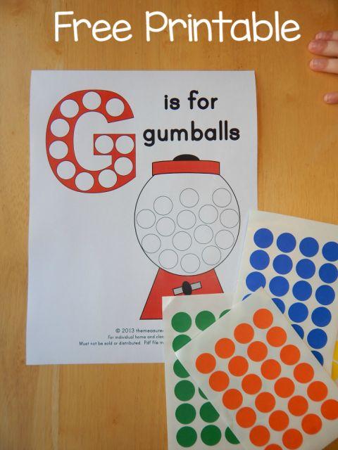 free letter G printable