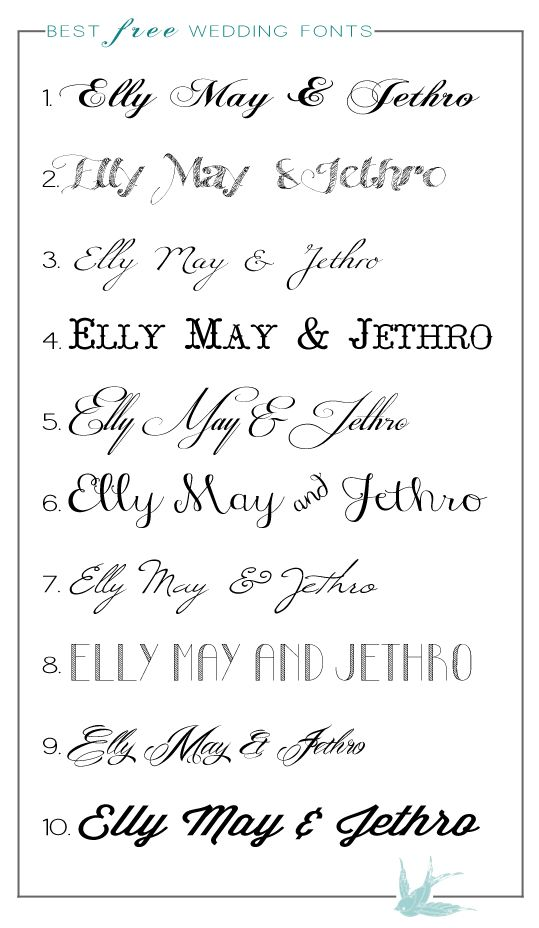 87 best Fonts images – Free Calligraphy Fonts for Wedding Invitations