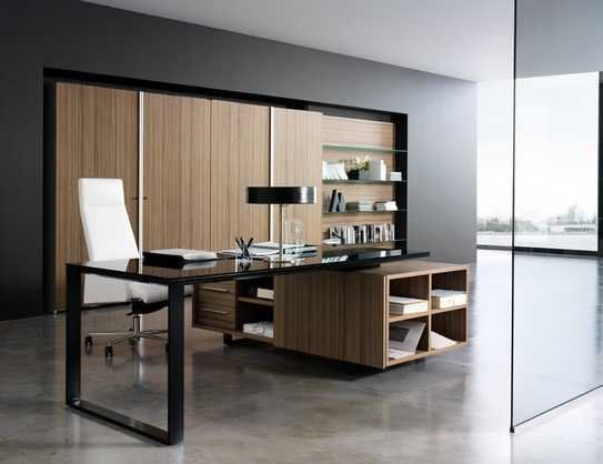 Office with Italian office chair and table