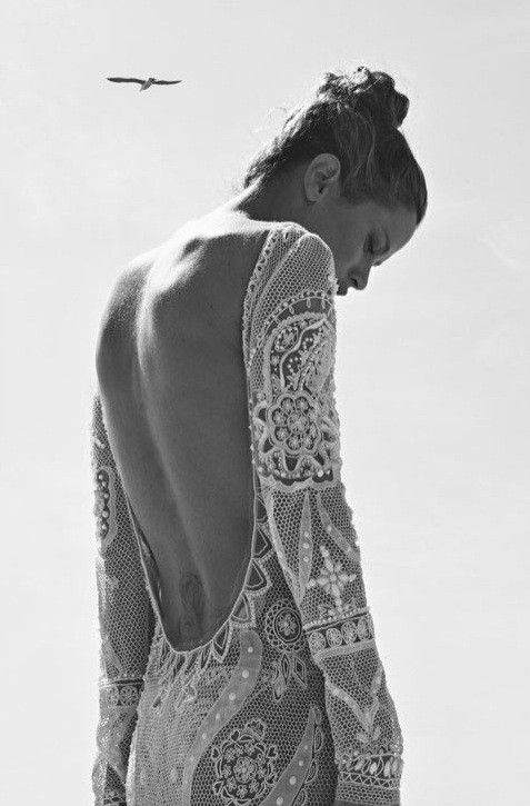 low back crochet dress, boho vintage