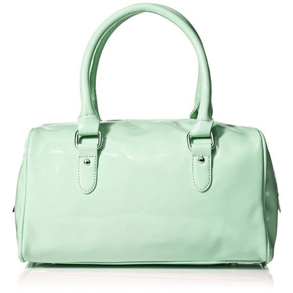 Women's Fashion Patent Vinyl Duffle Handbag Purse Mint, One Size:... ($20) ❤ liked on Polyvore featuring bags, handbags, man duffle bag, mint purse, mint green purse, hand bags and mint green handbags
