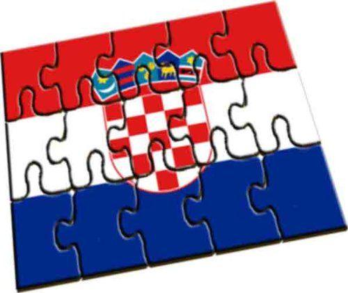 Cadeau personnalisé drapeau croate Puzzle en bois A5 | Your #1 Source for Toys and Games