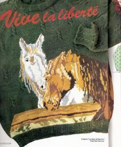 MODELE ENFANT 10 ANS avec motif chevaux - Forum Tricot Magicmaman