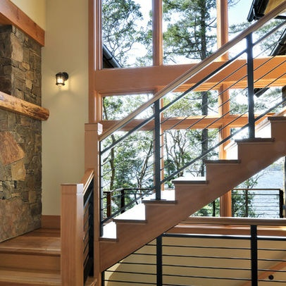 Best Rustic Modern Stair Railing My Dream Home Pinterest 640 x 480