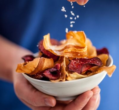 Oven Baked Parsnip and Beetroot Crisps Recipe - Cornish Sea Salt Company