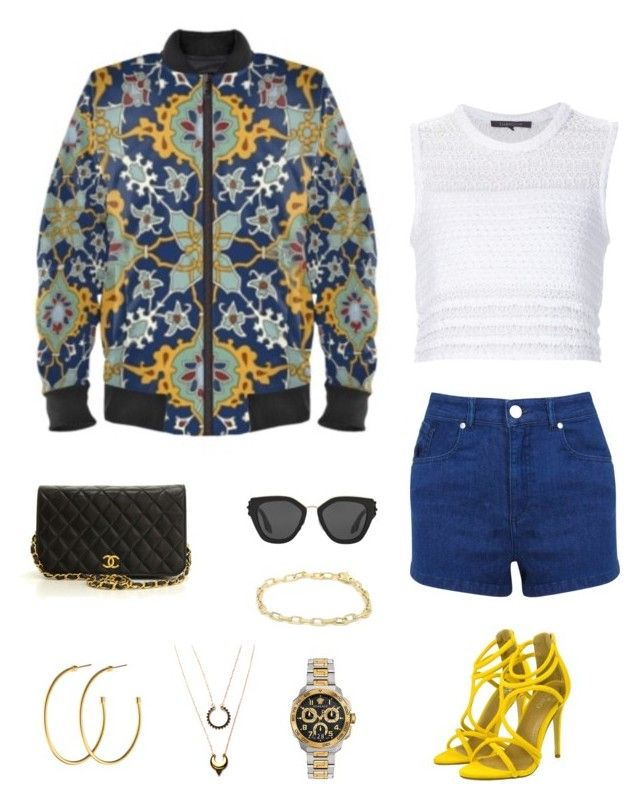 """""""Persian mosaic"""" jacket ootd by guutanii on Polyvore featuring polyvore, fashion, style, Thakoon, Miss Selfridge, Chanel, Cartier, Dyrberg/Kern, WithChic, Prada, Versace and clothing"""