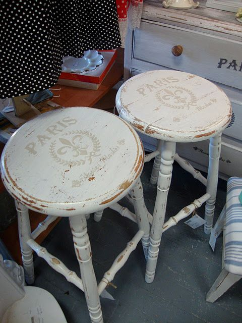 17 best ideas about painted stools on pinterest painted. Black Bedroom Furniture Sets. Home Design Ideas