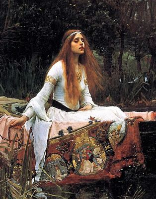 Pre Raphaelite Art: The Lady of Shallot (detail) - John William Waterhouse