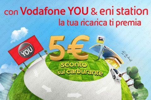 Vodafone - sconti carburante con Eni per gli iscritti Vodafone YOU
