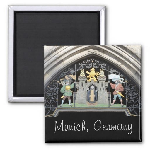 Munich, Germany 2 Inch Square Magnet