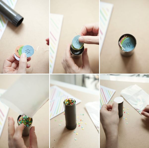 Party Popper Confetti Invitations + Template, I can't wait to try this!