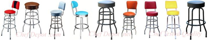 #Barstools, made in USA, on sale now ;  http://www.chefdepot.net/barstools.htm