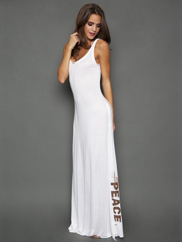 Peace Love World - Emily Elegance Boheme White Tank Dress