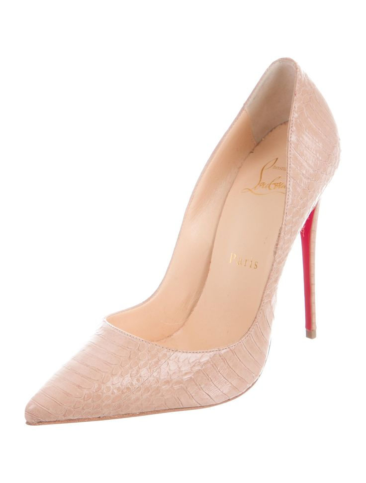 So Kate 120 Snakeskin Pumps
