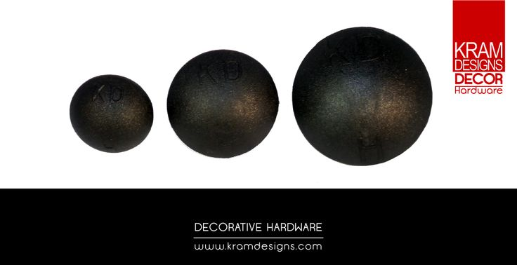 Round Flat Dome shape K.D.H. decor studs from Kram Designs Decor Hardware.