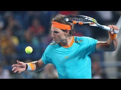 Rafael Nadal Vs Michael Berrer Doha 2015 BANANA SHOT AMAZING HD
