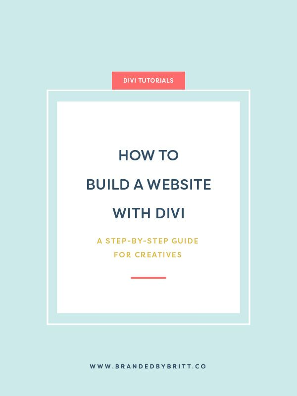 How to Build a Website With Divi   A step-by-step guide for creatives to learn the basics of how to set up your WordPress website using the Divi theme by Elegant Themes. #divi #webdesign #wordpress #creatives