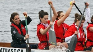 Canada Day 5: #katemiddleton competes with Wills in Dragonboat Race.