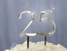 UNBEATABLE at 25 Silver Cake Topper