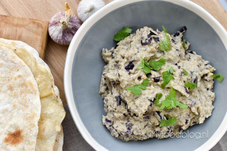 Snel baba ganoush recept (Libanese aubergine dip) // Libanees recept // zonder pakjes en zakjes