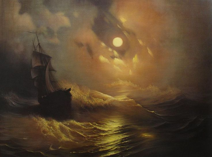 Rembrandt Painting - Ship At Sea by Rembrandt