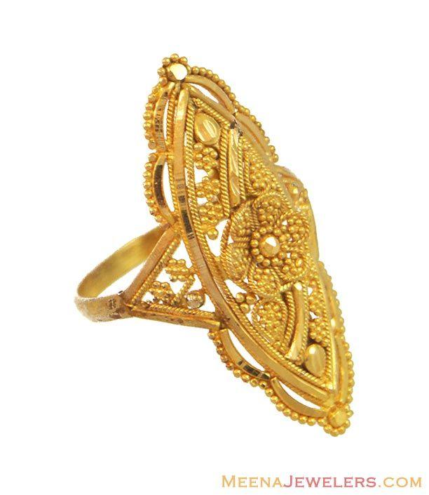 Indian Wedding Rings | Indian Wedding Rings on Indian Bridal Ring 22k Rilg9764 22kt Gold ...