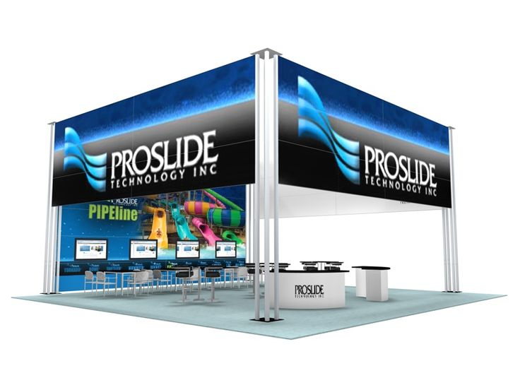 Superb Large Island Trade Show Booth Design