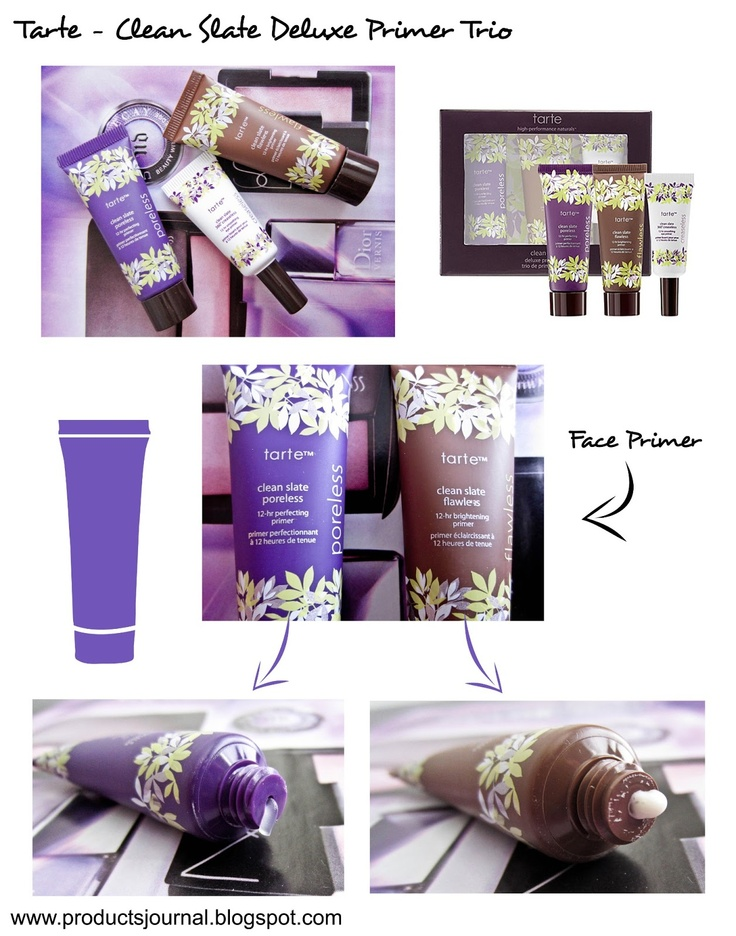 Products Journal, Tarte Primers !