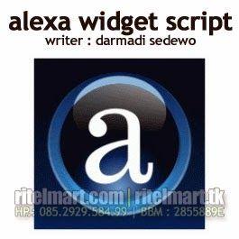 Alexa Script Widget - Untuk Menambahkan Alexa Widget Rank pada Situs Web/ Blog Anda