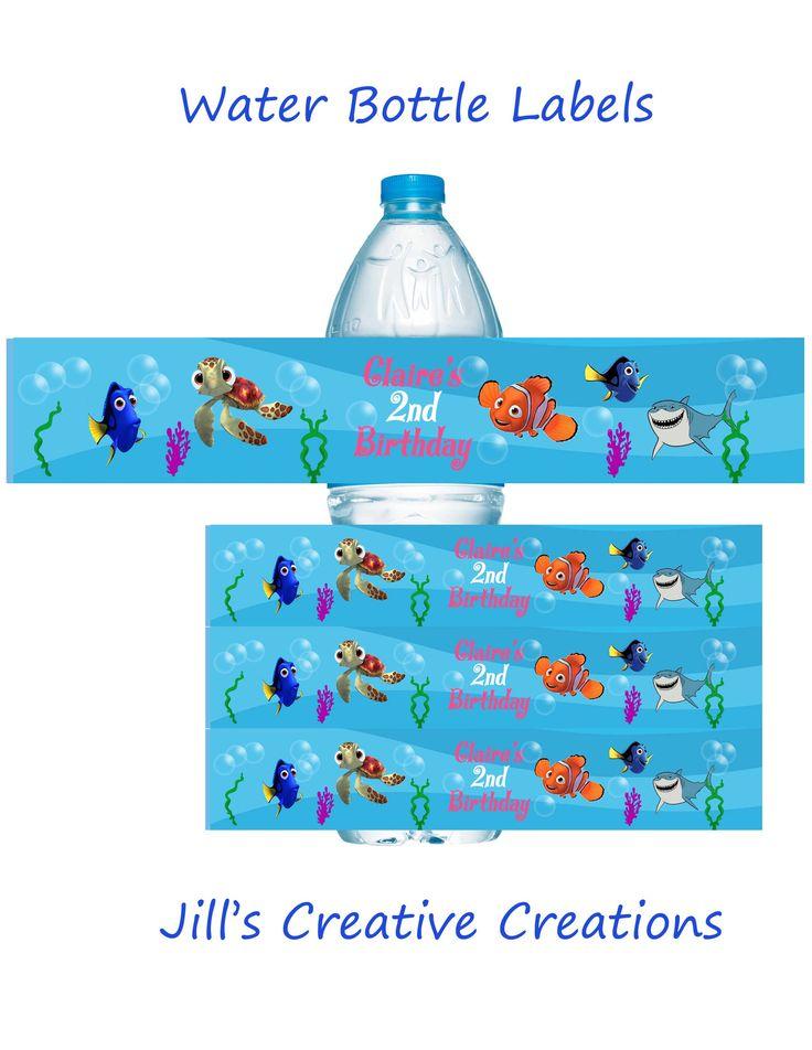 Finding Nemo Water Bottle Labels