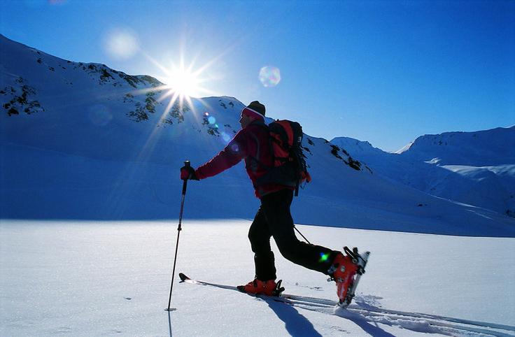 eine Skitour am Reschenpas
