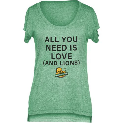 Chicka-d Women's Southeastern Louisiana University Scoop-Neck T-shirt (Green, Size Large) - NCAA Licensed Product, NCAA Women's at Academy Sports
