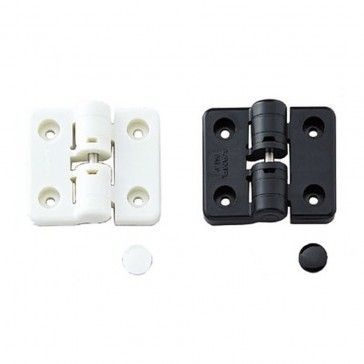 Plastic Hinge W/ Stopper, Black L=60MM W=50MM (HG-YJ50BL) - Rockler Woodworking Tools