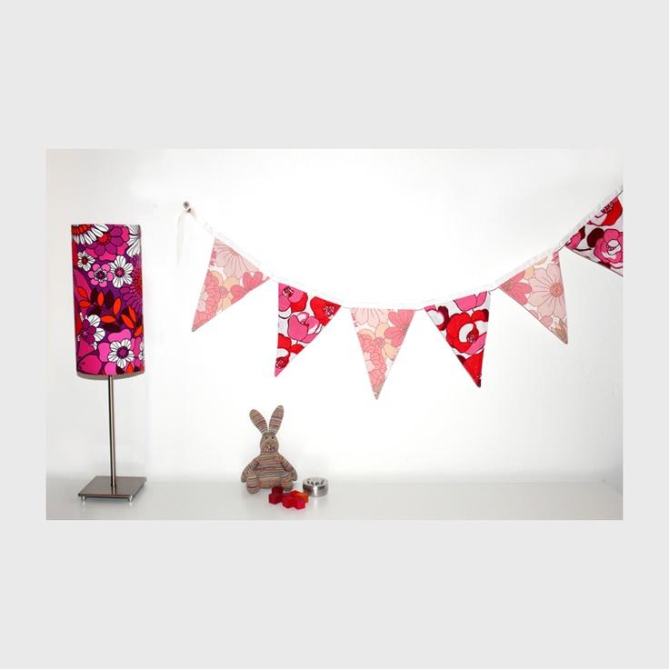 Pink Mix Bunting & Lampshade