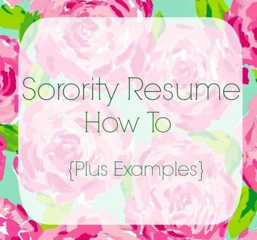 top 25 best sorority resume ideas on pinterest sorority girls