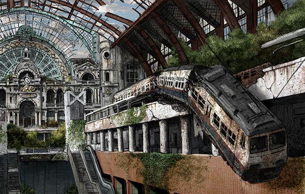 2010 Master Project - Post-Apocalyptisch Antwerpen on Behance