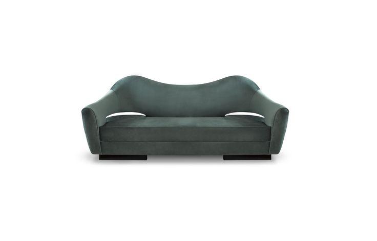 NAU Sofa   Modern Sofas   Velvet Sofa   Sofa Design   #modernsofas   #livingroomsofass   #sofas   Find more at: http://brabbu.com/category/upholstery