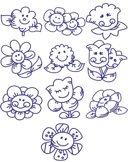 happy flowers to paint on rocks