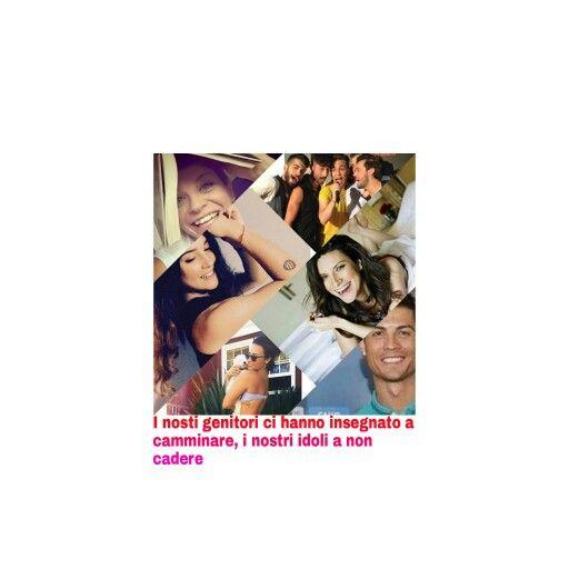 Non giudicate mai gli idoli di una persona perche, magari, é proprio grazie a loro che questa persona ha ricomiciato a sorridere. (Alessandra Amoroso, Paola Marotta, Dear Jack, Demi Lovato, Laura Pausini, Cristiano Ronaldo)