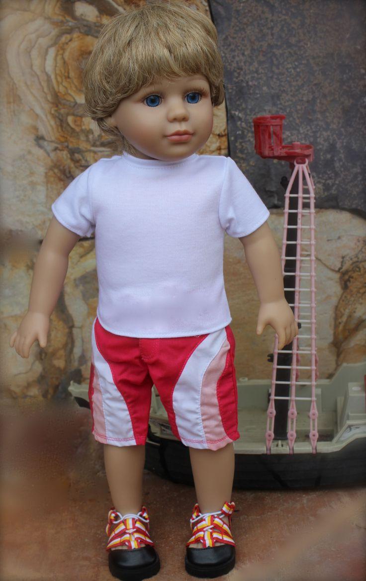 """Blonde Hair Blue Eyed 18"""" Doll Cameron, from Harmony Club Dolls. www.harmonyclubdolls.com"""