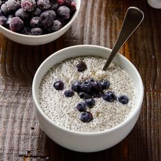Vanilla Chia Pudding- Basic vanilla chia pudding recipe with your favourite toppings for no fuss healthy breakfast or snack. Vegan and gluten free.