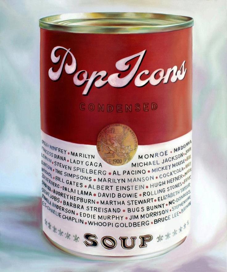 PopIcons Condensed - oil on canvas 100x120cm